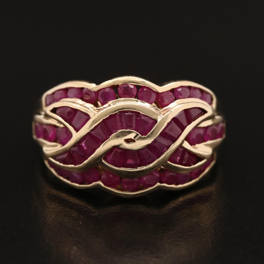 10K Ruby Channel Set Ring