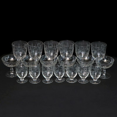 "Libbey Glass ""Crystal Garland"" Goblets, Coupes and Juice Glasses"