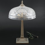 "Waterford Crystal ""Beaumont"" Arts and Crafts Style Table Lamp"