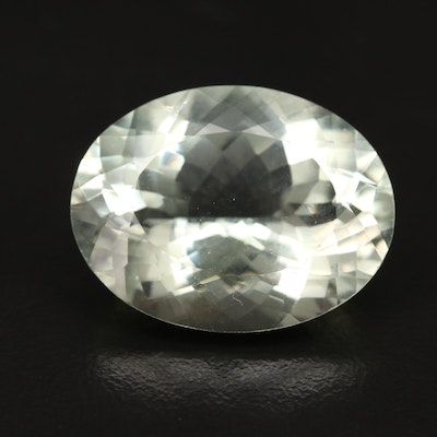 Loose 26.35 CT Oval Faceted Prasiolite
