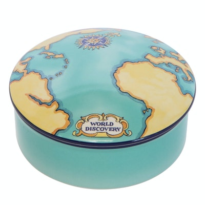 "Tiffany & Co. for Tauck ""World Discovery"" Porcelain Trinket Box"