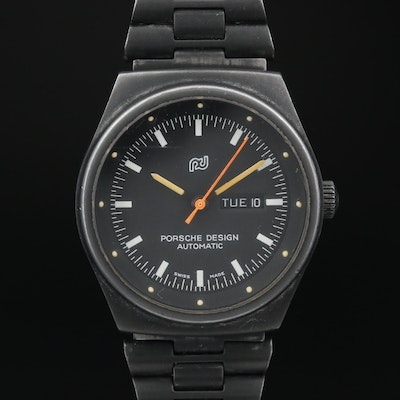 Porsche Design Swiss Made Automatic Day/Date Stainless Steel Wristwatch