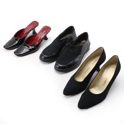 Donald J Pliner Mia Mules, Charles Jourdan Sarda Pumps and Solidus Elly Shoes