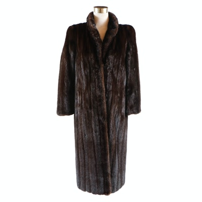 Lord & Taylor Dark Brown Mink Fur Coat, Vintage