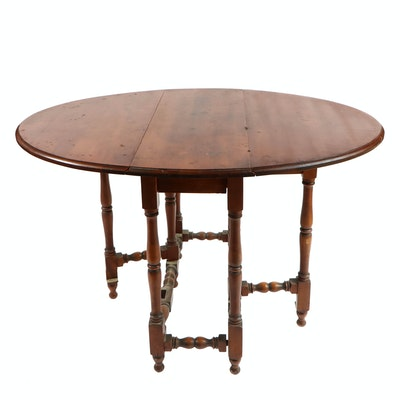 William and Mary Style Walnut Gate-Leg Table
