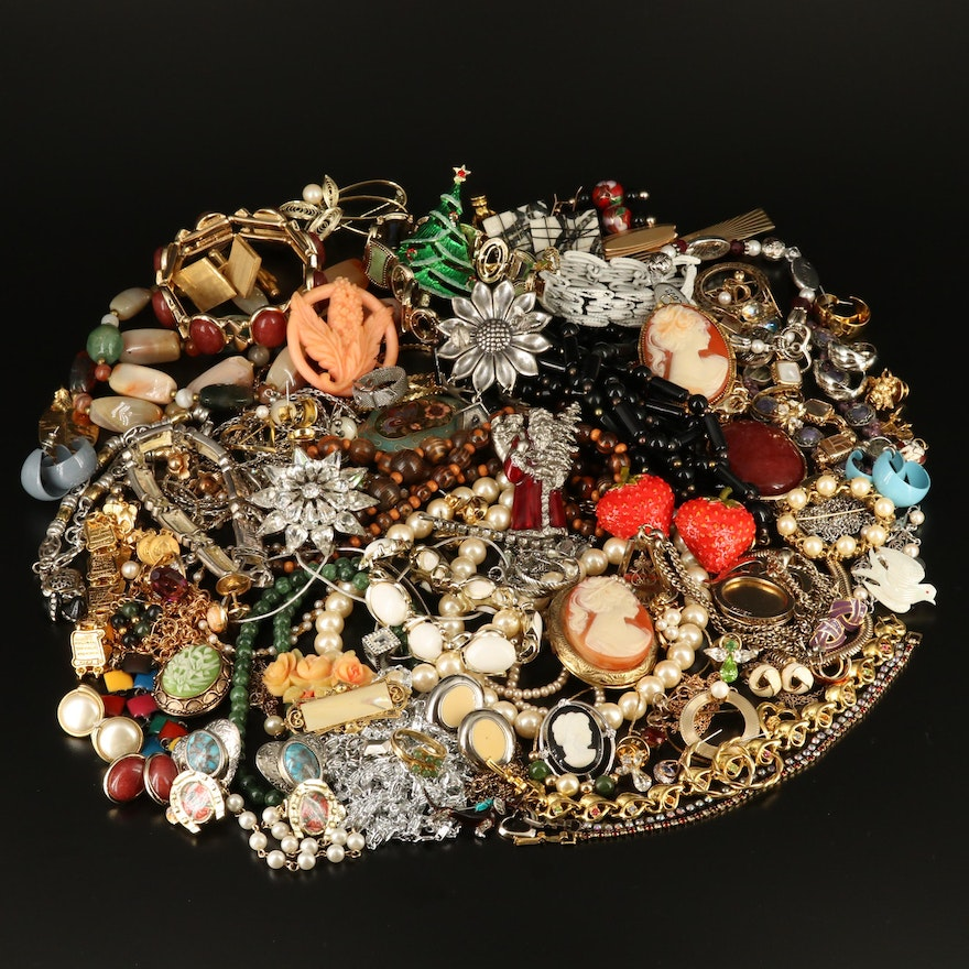 Assortment of Jewelry Featuring Vintage Jewelry