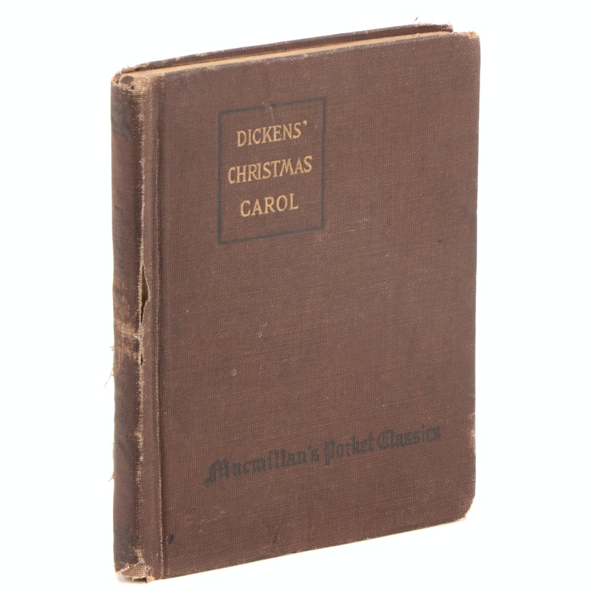 """""""A Christmas Carol and The Cricket on the Hearth"""" by Charles Dickens, 1917"""