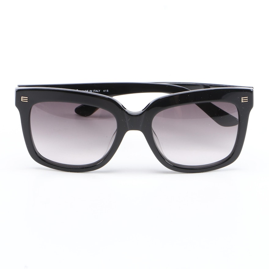 ETRO ET611S Black Horn-Rimmed Sunglasses with Case