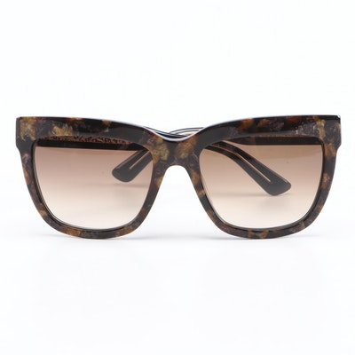ETRO ET603S Marble Brown Modified Cat Eye Sunglasses with Case