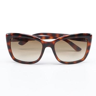ETRO ET601S Dark Havana Square Sunglasses with Case