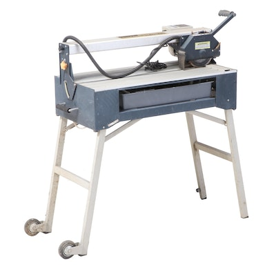 Chicago Electric Professional 7-inch 1.5 HP Bridge Wet Cut Tile Saw with Stand