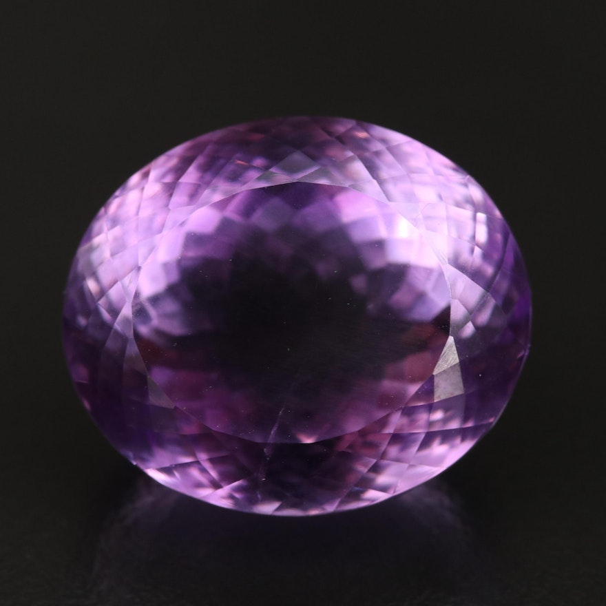 Loose 38.91 CT Oval Faceted Amethyst