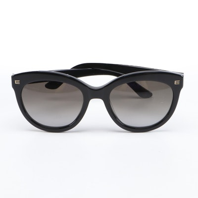 ETRO ET610S Black Modified Cat Eye Sunglasses with Case