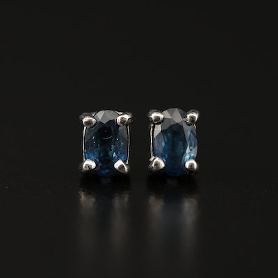 Sterling Silver Sapphire Stud Earrings