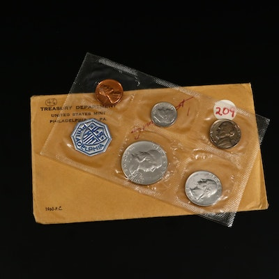 1960 US Mint Small Date Uncirculated Proof Coin Set