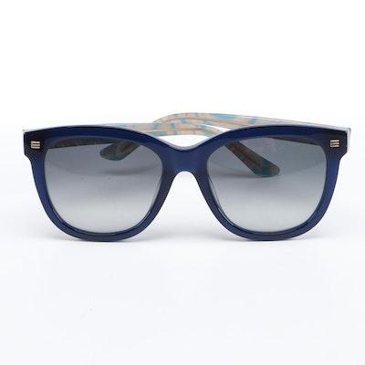 ETRO ET622S Dark Blue Horn Rimmed Sunglasses with Case