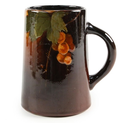 "Weller ""Louwelsa"" Gooseberry Ceramic Mug, Early 20th Century"