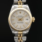 1989 Rolex Datejust 18K and Stainless Steel Automatic Wristwatch