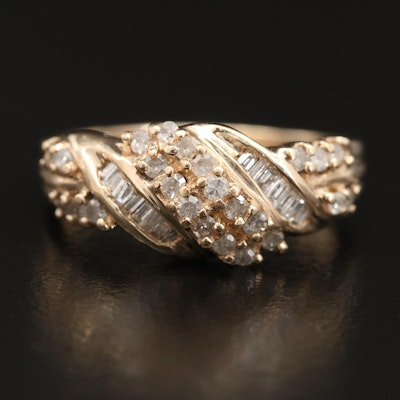 10K Diamond Crossover Band