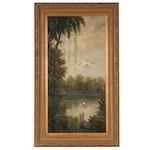 "Oil Painting after Ernest de Chamaillard ""Tropics I"""