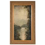 "Oil Painting after Ernest de Chamaillard ""Tropics II"""