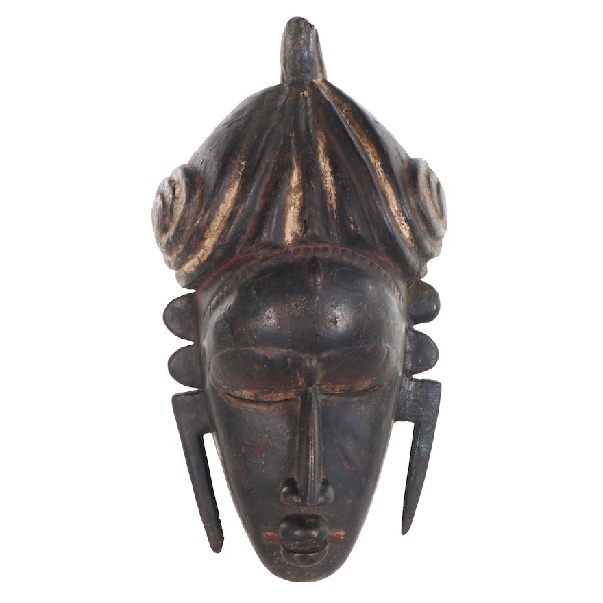 Senufo Inspired Hand-Carved Wood Mask, Côte d'Ivoire