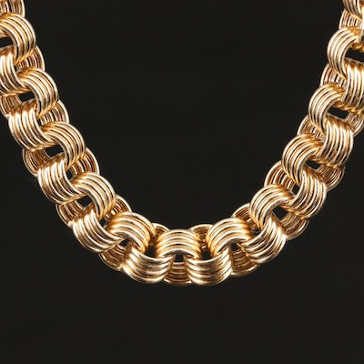 14K Multi-Ring Cable Necklace