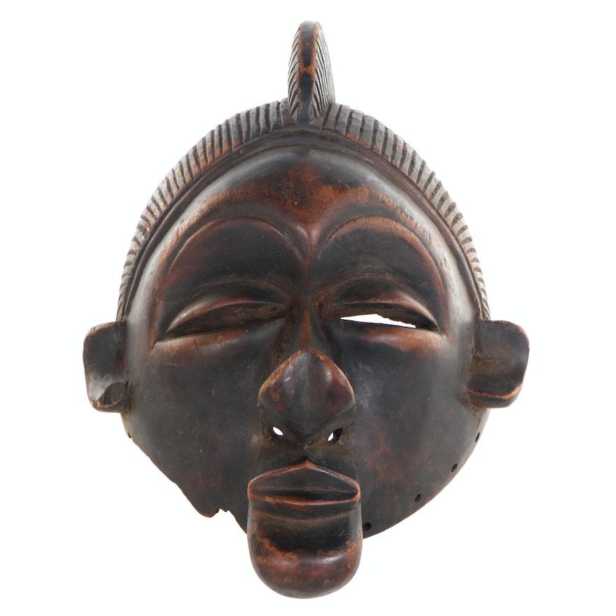 Yaka Style Hand-Carved Mask, Democratic Republic of the Congo