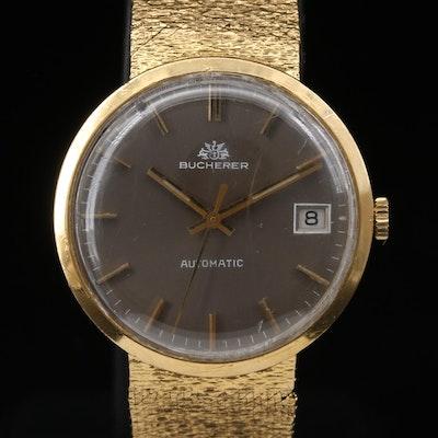 Vintage Bucherer 18K Gold Automatic Wristwatch