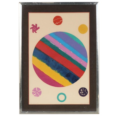 "Amaranth Roslyn Ehrenhalt Acrylic Painting ""Mondo"""