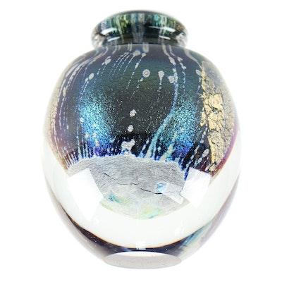 Robert Eickholt Blown Glass Perfume Bottle, 1988