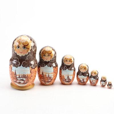 Russian Hand-Painted Matryoshka Nesting Doll