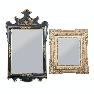 Pair of Ornately Frame Wall Mirrors, Early to Mid 20th Century