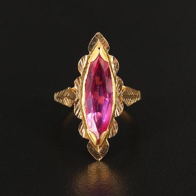 18K Diamond Cut Sapphire Ring
