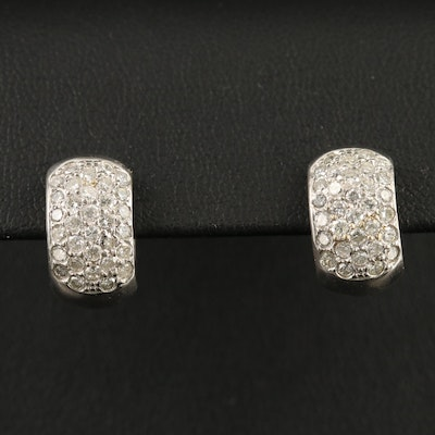 14K 1.00 CTW Diamond Huggie Earrings