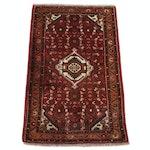 2'2 x 3'5 Hand-Knotted Persian Bijar Rug, 1970s