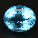 Loose 21.86 CT Oval Faceted Topaz