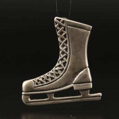 Sterling Silver Ice Skate Pendant