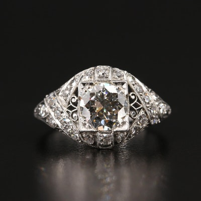 Edwardian Platinum 1.75 CTW Diamond Ring