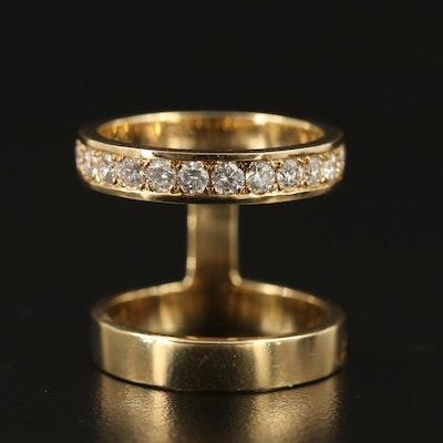 14K 1.14 CTW Diamond Double Ring