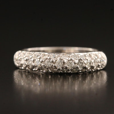 14K Pavé Diamond Band