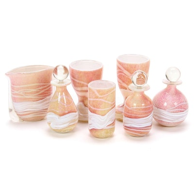 Gozo Art Glass Perfume Bottles, Goblets and Vases