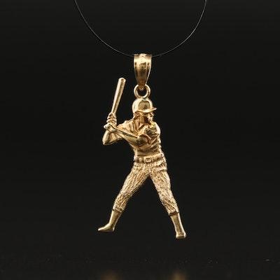10K Baseball Player Charm