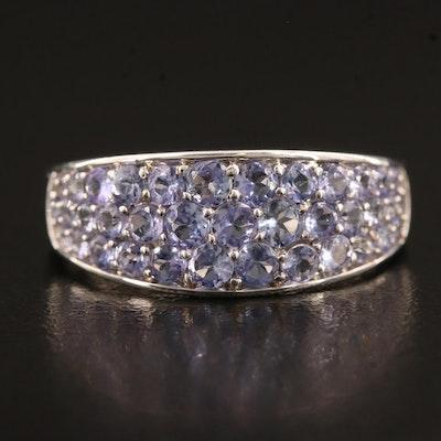 14K Pavé Tanzanite Ring
