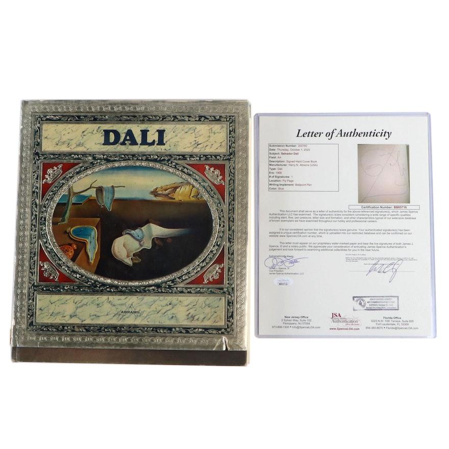 """Salvador Dalí Signed """"Dalí"""" Edited by Max Gerard with JSA Full Letter, 1968"""