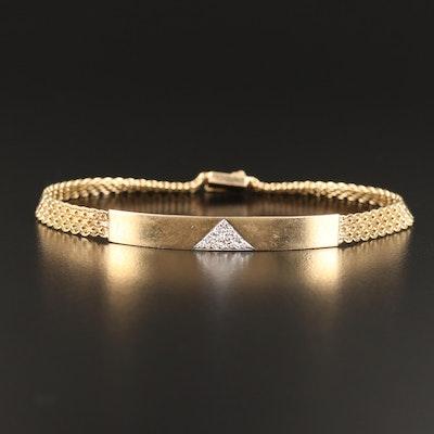 14K Diamond I.D. Bracelet
