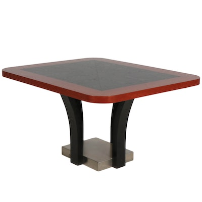 Modern Ebonized Oak and Cherry Dining Table, 21st Century