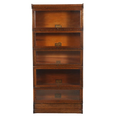 Globe-Wernicke Oak Barrister's Bookcase, Early 20th Century