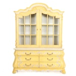 Hand-Painted French Style Illuminated Cabinet