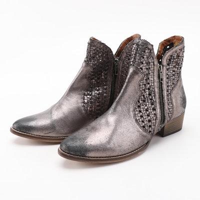 Seychelles Flip a Coin Zipper Boots in Metallic Pewter